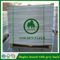Cheap 180gsm-450gsm Duplex board with grey back and white back in roll and sheet for sale