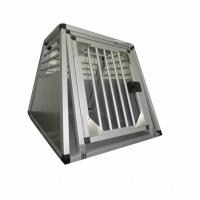Cheap Household Aluminum Dog Cage for Car / Pet Grooming Cage Carrying Case for sale