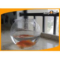 Quality Beautiful 4L Round PET Plastic Fish Bowl , Aquarium Fish Tank For Home Decorative wholesale