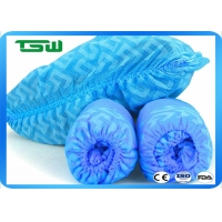 China pP material Disposable 60gsm 40*18cm Anti Skid Shoe Covers on sale