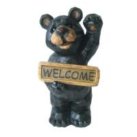 Quality Cute Standing Bear Welcome Solar Garden Lights Animals With White Light wholesale