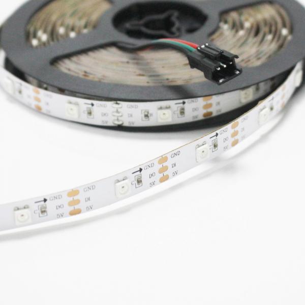 Cheap Addressable 5050 RGB LED Strip 5V WS2812 WIFI Controller RGB Strip Light for sale