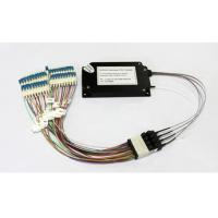 Quality 40 Channels C21-C60 Dual Fiber Athermal AWG Module With 1U Rack Mount, LC/UPC wholesale