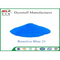 Quality Custom Non Toxic Fabric Dye Reactive Turquoise Blue WGE C I Blue 21 wholesale