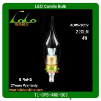 Quality 2012 hotsale dimmable led candle bulb/lighting/lamp  from TOLO lighting wholesale
