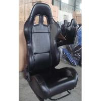 Quality Black PVC Leather Comfortable Racing Seats With Harness OEM / ODM Welcome wholesale