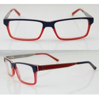 Buy cheap Fashion Women Acetate Optical Frames, Red & Black Handmade Acetate Glasses Frames from wholesalers
