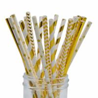 Quality Disposable Compostable  Baby Shower Paper Straws Earth Friendly No Polluting wholesale