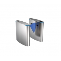 Buy cheap SUS304 Retractable Flap Barrie RFID Waist Height Turnstile Gate System from wholesalers