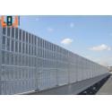 Lightweight 2500x500x100mm Highway Sound Barrier Walls Soundproof Barrier Panels for sale