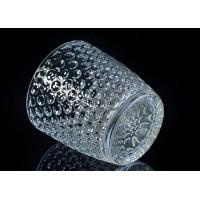 Cheap Embossed Nail Design Glass Candle Holder Christmas Deco Glass Candle Jars for sale