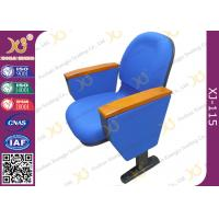 China Flame retardant Fabric cover Auditorium Chairs with PAD 580mm center distance for audience room on sale