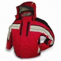 Quality Men's Ski Jacket with Hood and Polar Fleece Lining, Available in M, L, XL, and XXL Sizes wholesale
