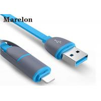 Cheap Micro Sync Charge Cable 8 Pin 2 In 1 Abrasion Resistant For IPhone 5 6 6s 7 for sale