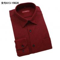 Quality Wholesale men warm shirts thicken long-sleeved shirt men's plaid designer business shirts wholesale