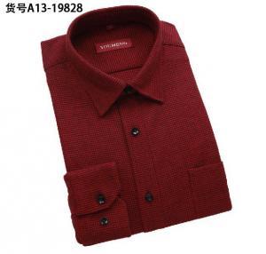 Quality Wholesale men warm shirts thicken long-sleeved shirt men's plaid designer business shirts wholesale