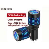 Cheap QC3.0 Quick USB Car Charger Strong Compatibility Independent Current Outputs for sale