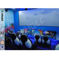 Quality Customized 5D Movie Theater Equipment With Bubble / Smog Special Effects wholesale