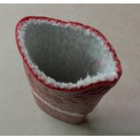 China Big size Silicone Coated Fiberglass Sleeving , heat resistant sleeves on sale