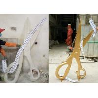 China Window Display Gold Fiberglass Scissor H180cm And PVC Ruler L300cm on sale