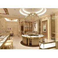 Cheap Fully - Assembled Gold Metal Showroom Display Cases Customized 3D Design for sale