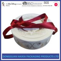 China Ribbon Type Custom Cosmetic Boxes , Makeup Packaging Boxes Cylinder Shape on sale