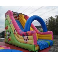 Quality Disney Mickey Mouse Inflatable Bouncy Slide Commercial Grade PVC Slipping Games wholesale