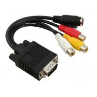 Cheap vga 15pin to 4pin S-video 3 rca cable for sale