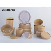 Quality 250ml,400ml,500ml, Microwave single PE coating food kraft paper bowls wholesale