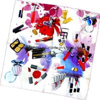 Quality Screen Print Silk Square Scarf (DX1019-1) wholesale