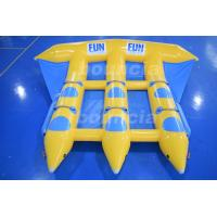 Quality 0.9mm Durable PVC Tarpaulin Inflatable Flying Fish Boat For Sale wholesale