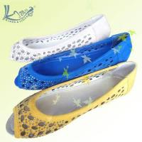 China hollowed studded peep toe latest flat shoes for women 2012 on sale