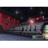 Quality Black Electric 4D Movie Theater Seats With Safety Belt , Footrest wholesale