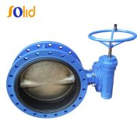 China Double Flange Butterfly Valve With Rubber Vulcanized Seat on sale