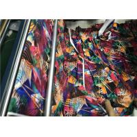 Digital Printing Weft Knitting Recycled Polyester Fabric For Stripe Energy Bra