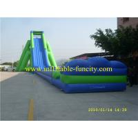 Quality Adult Size Inflatable Water Slide , PVC Tarpaulin Inflatable Dry Slides for Amusement Play Rental wholesale