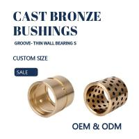 Quality CNC Plugged Graphite Cast Bronze Sleeve Bearings For Oil / Grease Scrapers wholesale