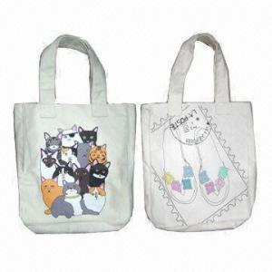 Quality Cotton handbags with nice printing wholesale