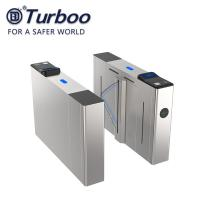 Quality E - Tickets Access Control Turnstile Gate 304SUS Flap Barrier R485 Dry Contact wholesale