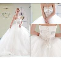 Quality Simple Tulle Court Train Sweetheart Wedding Gowns / Lace Up Wedding Dresses wholesale