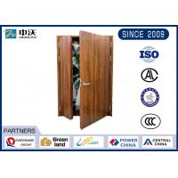 Quality Emergency Exit Steel Fire Escape Doors / Luxury 20 Minute Fire Rated Wood Door wholesale