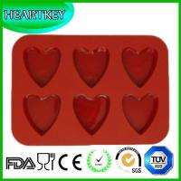 Quality New Arrival 6 Cavity Heart Silicone Cake Pan Baking Chocolate Mold Muffin Cupcake Moulds wholesale