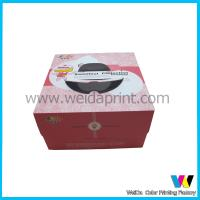 Quality Art Paper Wedding Birthday Cake Packaging Boxes With Plastic Window wholesale