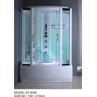 Cheap 84 X 150 X 210 / cm square shower cabin , film back panel one wall shower enclosures for sale