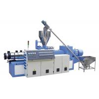 China PVC Pipe / Profile Board Conical Twin Screw Extruder Stainess Steel Material on sale