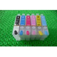 Quality Black Plotter T080 T0801 T0802 Refillable Printer Ink Cartridges for Desktop Epson R265 wholesale