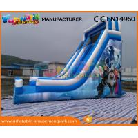 Quality Blue PVC Tarpaulin Frozen Commercial Inflatable Slide Inflatable Dry Slide for Kids wholesale