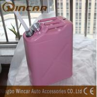 Cheap 5L 10L 20L Fuel Petrol Metal Jerry Can With Flexible Spout for sale