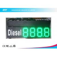 China Custom 10 Green Gas Station Digital Price Signs To Display Daily Prices on sale
