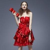 Quality Vibrant Floral Tiered Dress with Sweetheart Line wholesale